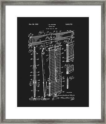 Tennis Net Patent Framed Print by Dan Sproul