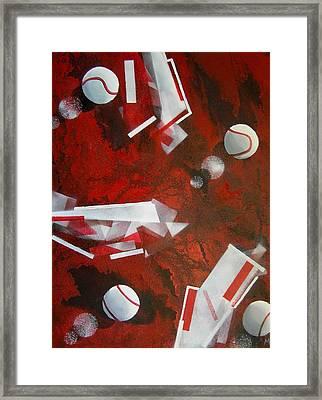 tennis on Mars Framed Print by Evguenia Men