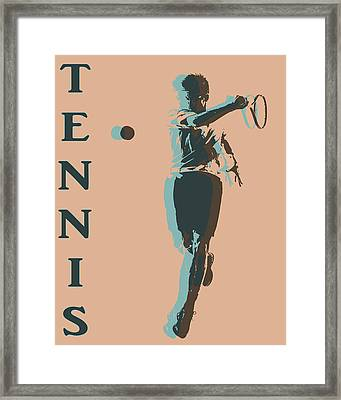 Tennis Player Pop Art Poster Framed Print by Dan Sproul
