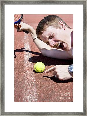 Tennis Player Tantrum Framed Print
