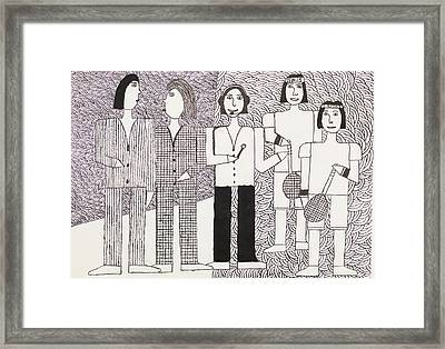 Tennis Players And Sports Commentator Framed Print