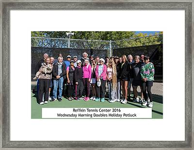 Framed Print featuring the photograph Tennis Potluck Group Shot by Dan McManus