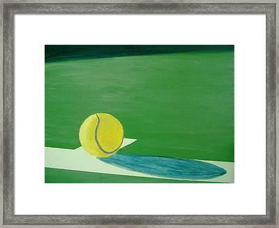Tennis Reflections Framed Print by Ken Pursley