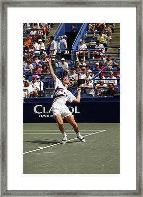 Tennis Serve Framed Print