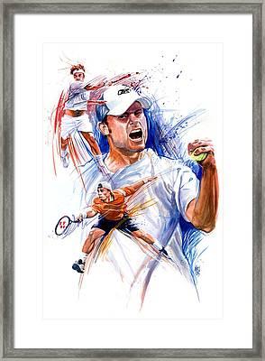 Tennis Snapshot Framed Print by Ken Meyer jr