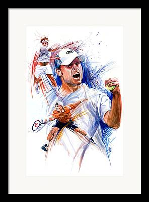 Andy Roddick Framed Prints