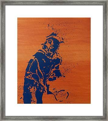 Tennis Splatter Framed Print by Ken Pursley