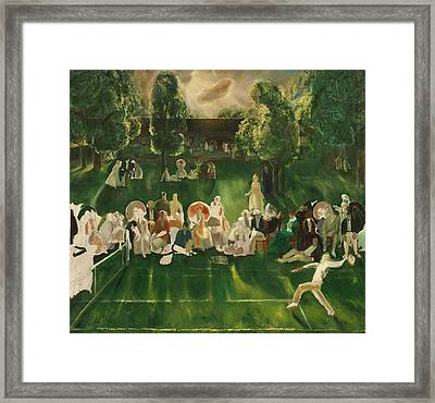 Tennis Tournament Framed Print by George Bellows