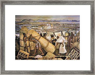 Tenochtitlan (mexico City) Framed Print