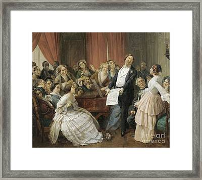 Tenor During A Musical Framed Print by MotionAge Designs