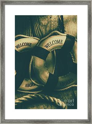 Tension On The High Seas Framed Print
