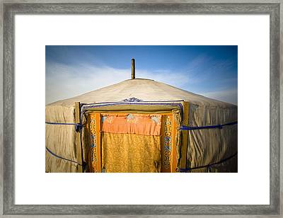 Tent In The Desert Ulaanbaatar, Mongolia Framed Print by David DuChemin