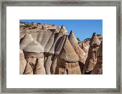 Tent Rocks - New Mexico Framed Print