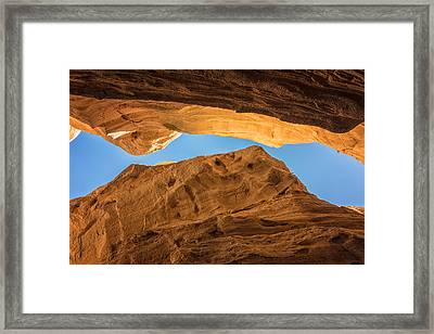 Tent Rocks Slot Canyon 3 - Tent Rocks National Monument New Mexico Framed Print
