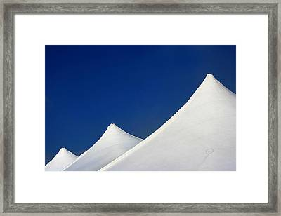 Tent Tops Framed Print by Doug Hockman Photography