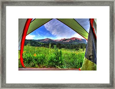 Tent View Framed Print