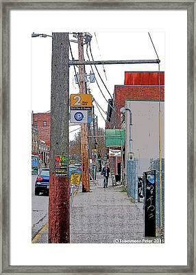 Tenth And Union Framed Print
