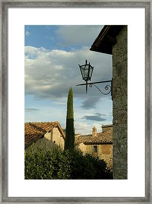 Tenth Century Villa In Tuscany Framed Print by Todd Gipstein
