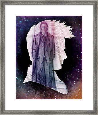 Doctor Who Inspired Tenth Doctor Silhouette  Framed Print