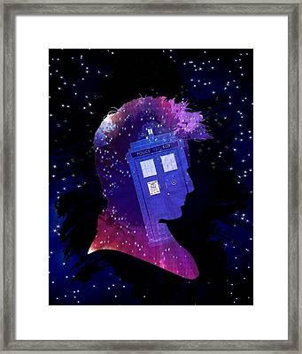 Doctor Who Inspiredtenth Doctor Tardis Framed Print