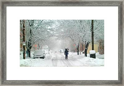 Tenth Street Framed Print by Andrew Dinh