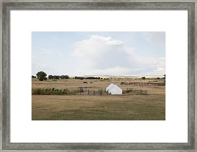Framed Print featuring the photograph Tents At Fort Laramie National Historic Site In Goshen County by Carol M Highsmith