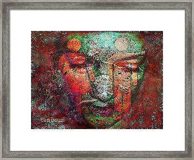 Tenuous-the Masculine And The Feminine Framed Print