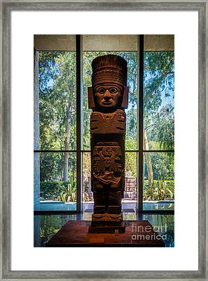 Teotihuacan Figure Framed Print by Inge Johnsson