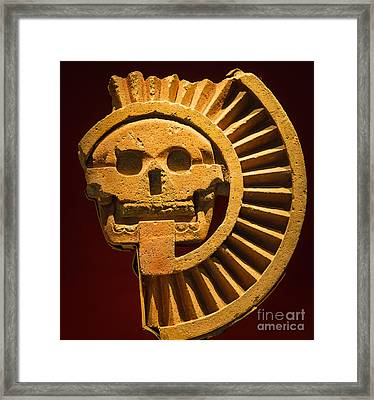 Teotihuacan Skull Framed Print