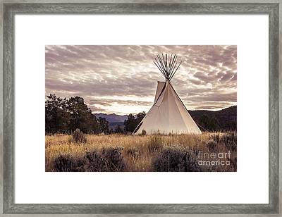 Framed Print featuring the photograph Tepee by The Forests Edge Photography - Diane Sandoval
