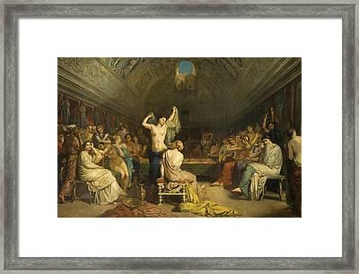 Tepidarium Framed Print by Theodore Chasseriau