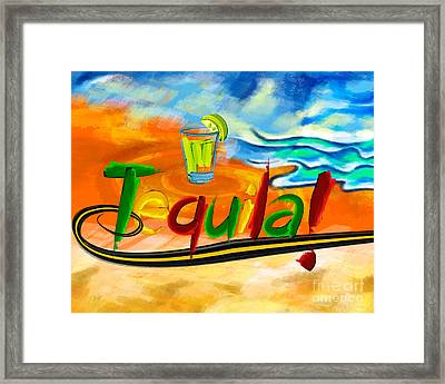 Tequila Framed Print by Bedros Awak