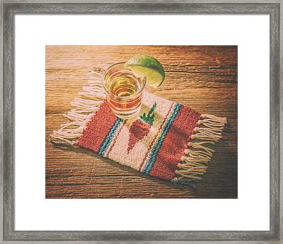 Tequila For Cinco De Mayo Framed Print
