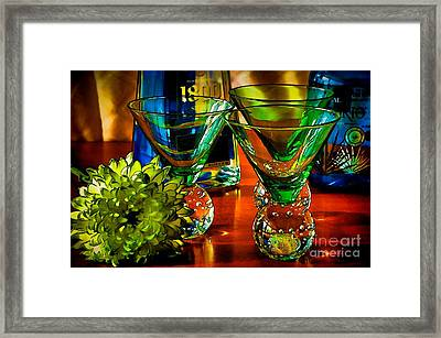 Tequila Ready Framed Print by Pamela Blizzard