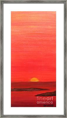 Tequila Sunrise Framed Print by Lori Jacobus-Crawford