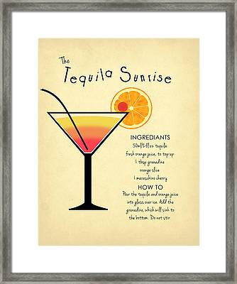 Tequila Sunrise Framed Print by Mark Rogan