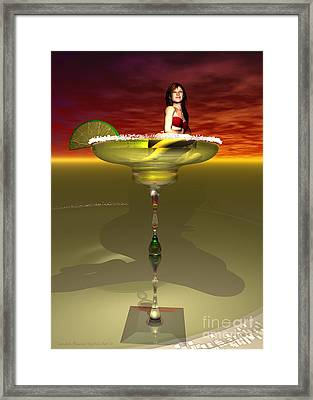Tequila Sunrise Framed Print by Sandra Bauser Digital Art