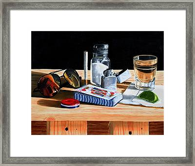 Tequila With Lime No. 6 Framed Print by Thomas Weeks