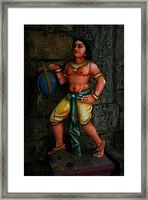 Teracotta Art Framed Print by Deepak Pawar