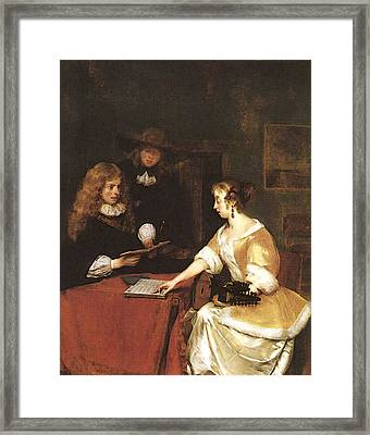 Terborch Gerard A Concert Framed Print by Gerard ter Borch