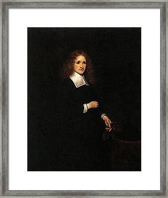 Terborch Gerard Portrait Of A Young Man Framed Print by Gerard ter Borch