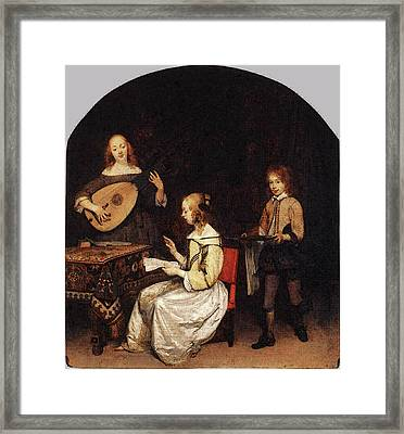 Terborch Gerard The Concert Framed Print by Gerard ter Borch