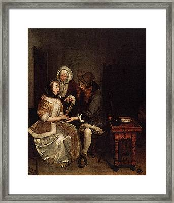 Terborch Gerard The Glass Of Lemonade Framed Print by Gerard ter Borch
