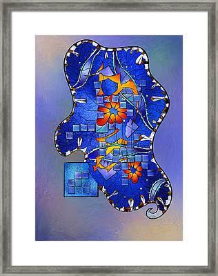 Tercaro Diara V2 - Digital Abstract Framed Print by Cersatti