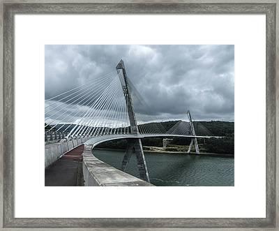 Terenez Bridge I Framed Print by Helen Northcott