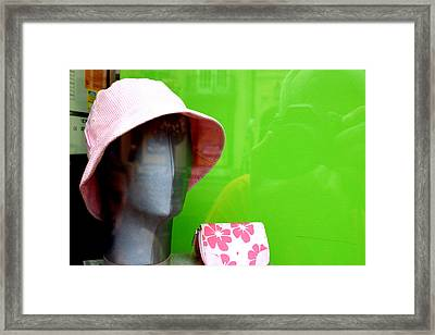 Teresa And Her Hat Framed Print by Jez C Self