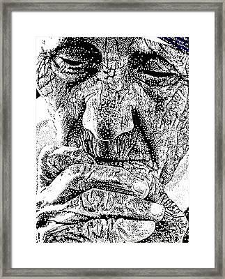Teresa In Prayer Framed Print by Max Eberle