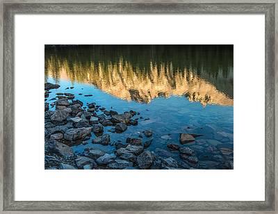 Teresa Lake Sunset Framed Print