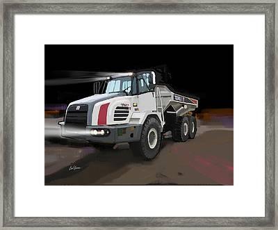 Terex Ta27 Articulated Dump Truck Framed Print by Brad Burns