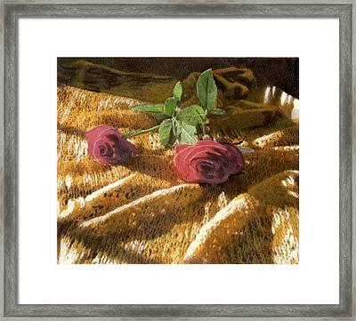 Teri's Roses Framed Print